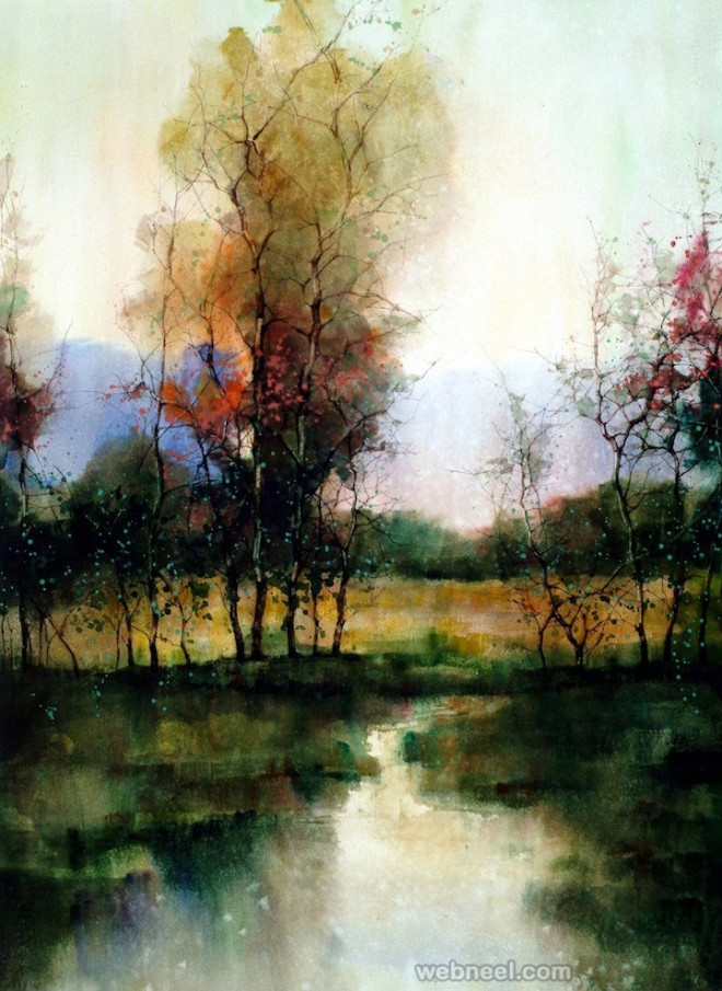 15 beautiful watercolor landscape paintings by zl feng