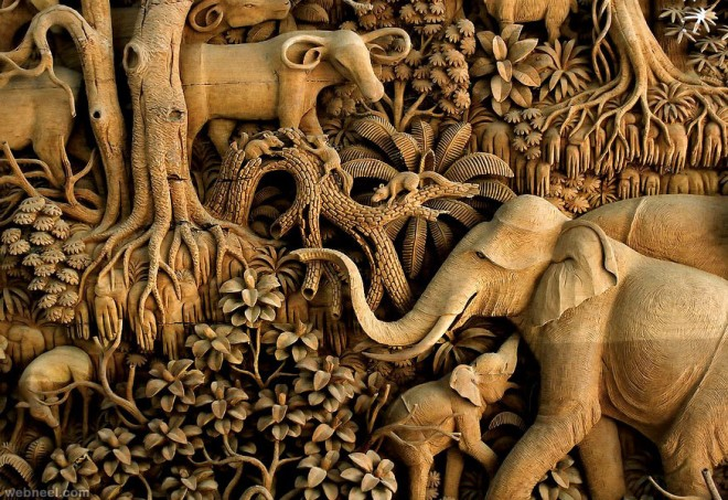 40 Beautiful Wood Carving Sculptures And Designs From