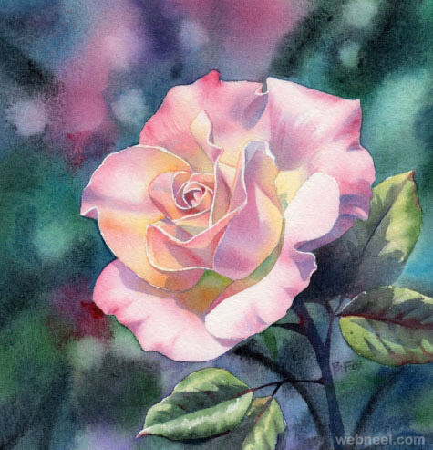watercolor painting flower by barbara 9
