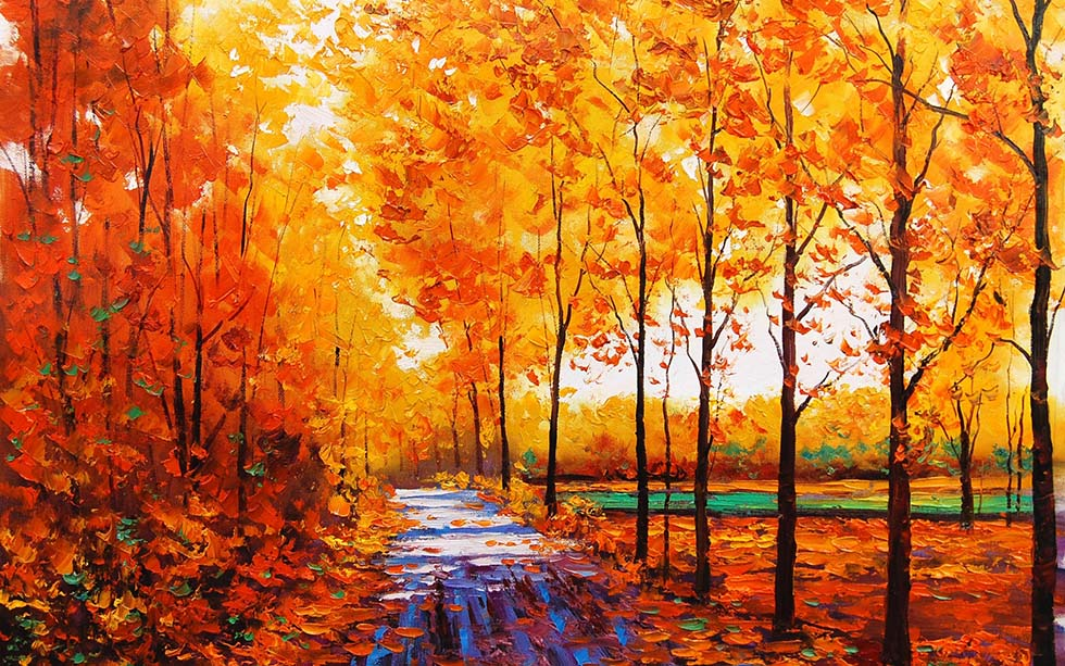 autum tree paintings