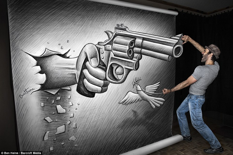 Gun Pencil Drawings Gun 3d Pencil Drawing