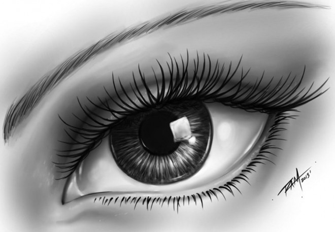 Realistic eye drawing by ram