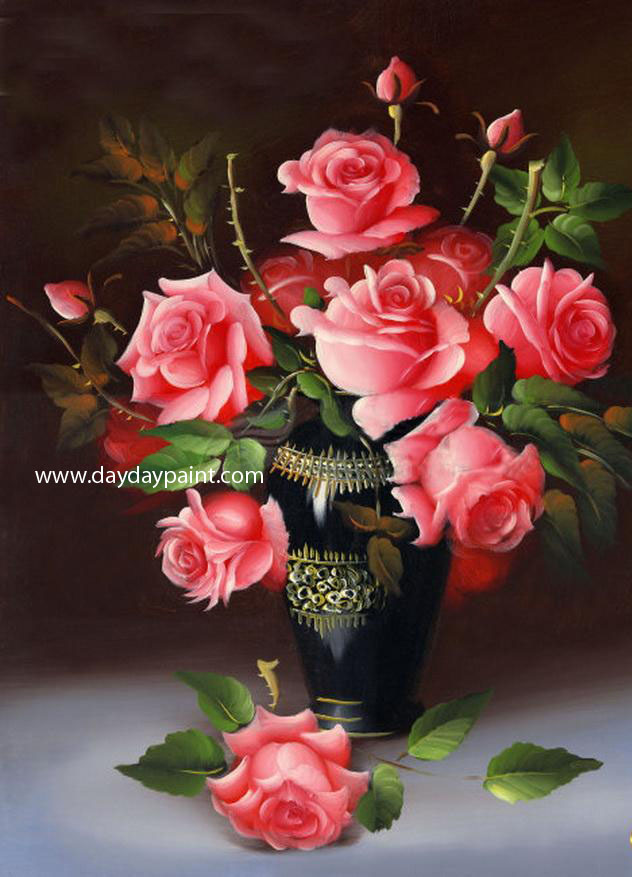 red roses flower painting
