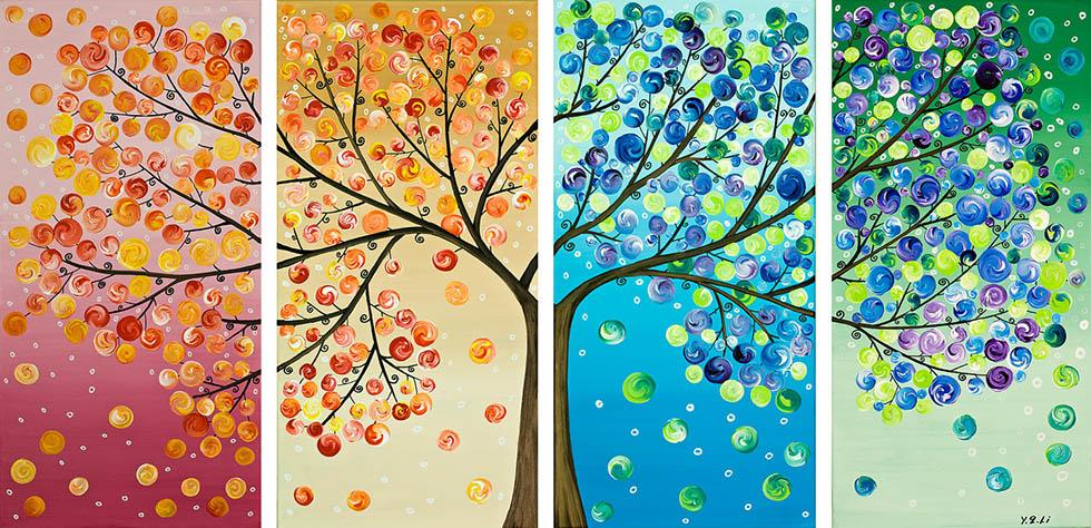 Painting Inspiration: Tree Art Painting
