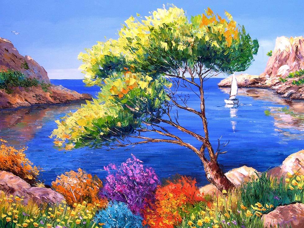 Tree paintings by jean marc janiaczyk