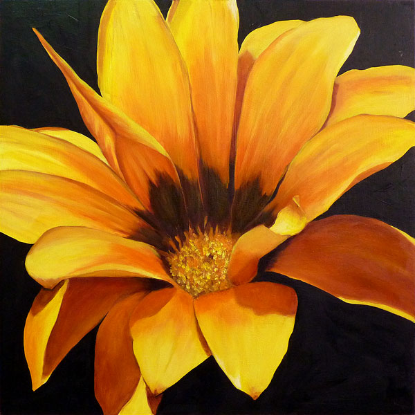 Yellow Flower Painting Full Image