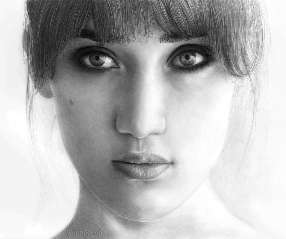 portrait drawing alaya
