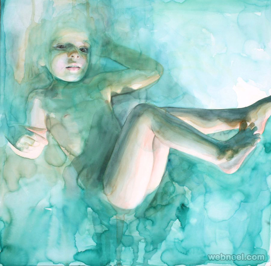 underwater watercolor painting