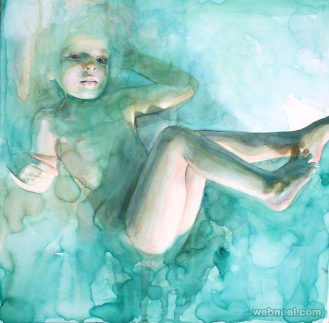 underwater watercolor painting