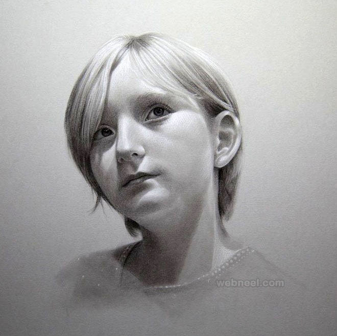 Pencil portrait drawing girl by maryjane 11