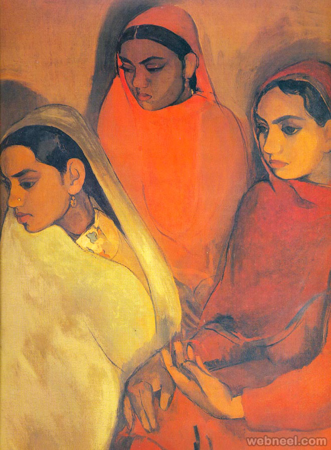 three women painting