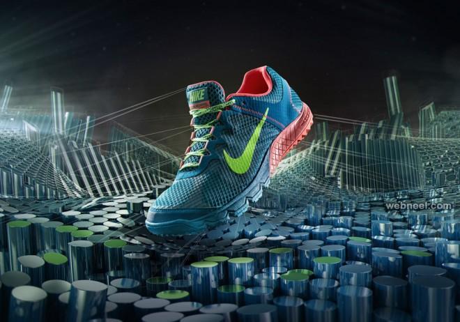 nike shoe print ads design