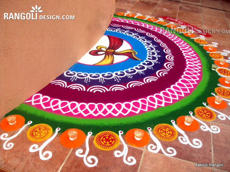 best rangoli design diwali by aakruti