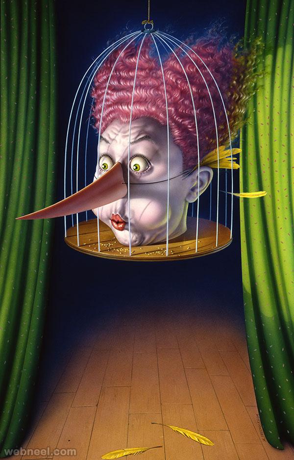 clown digital art by mark fredrickson