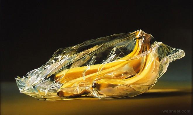 banana realistic oil paintings
