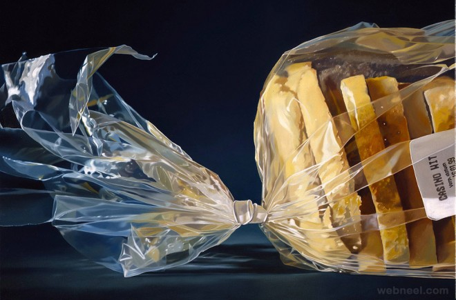 bread realistic oil paintings
