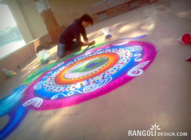 beautiful rangoli design by aakruti