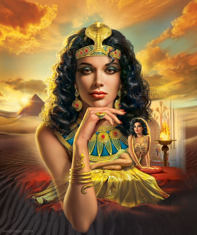 cleopatra digital art painting