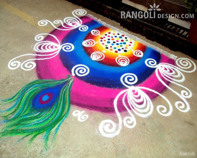 easy rangoli design diwali by aakruti