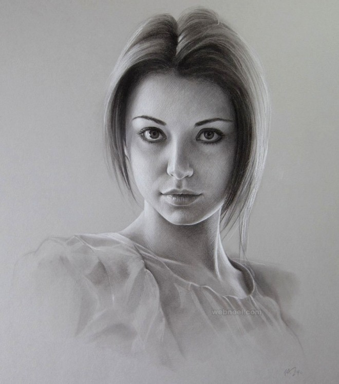 Portrait drawing woman by maryjane