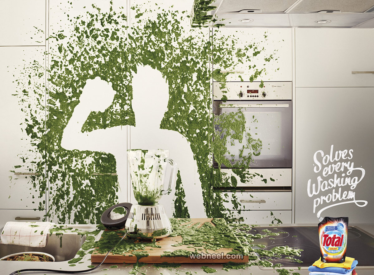 washing powder print ads design