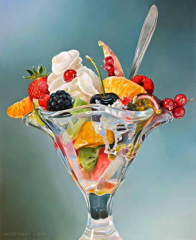 fruitsorbet realistic oil paintings