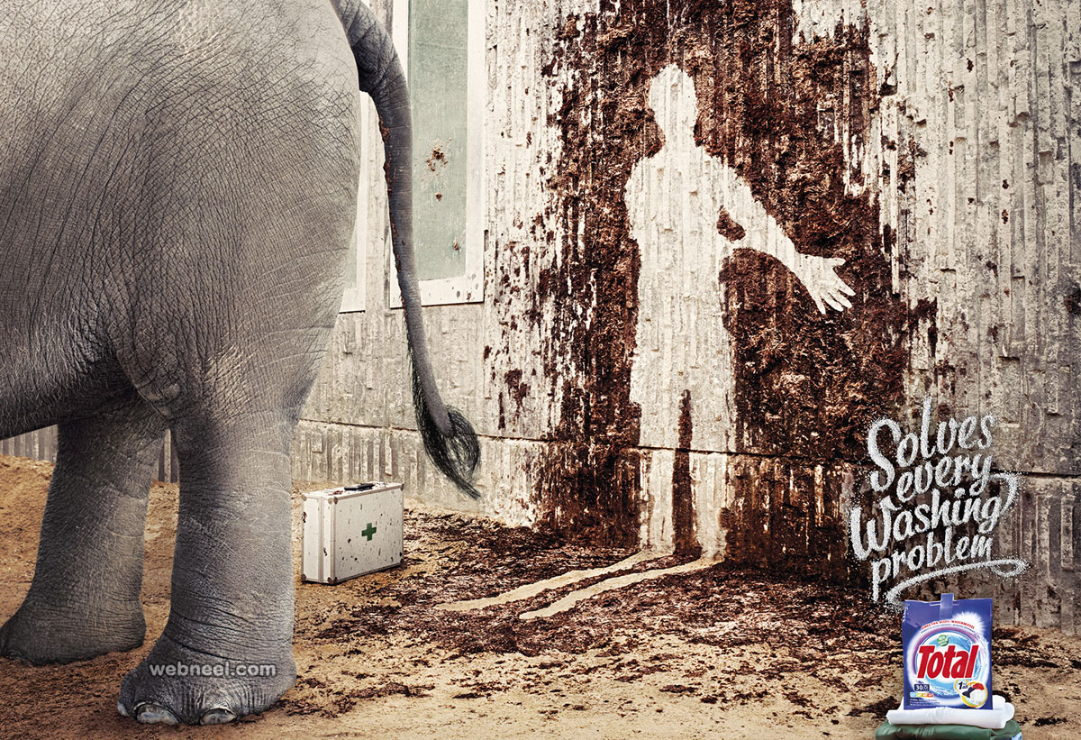 washing powder totalprint ads design
