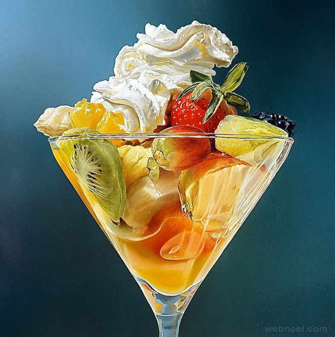 fruitsalad realistic oil paintings