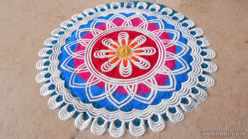 rangoli design simple