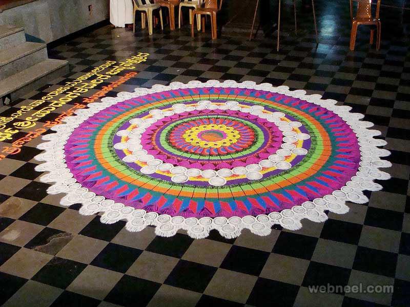 rangoli designs chakra