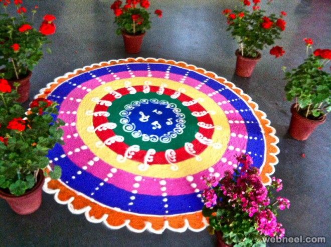 Beautiful Rangoli Design By Aakruti Newyear