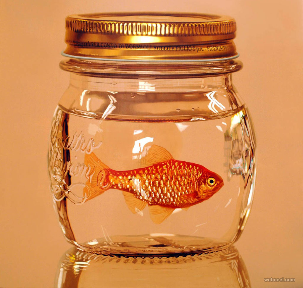 fish hyper realistic painting