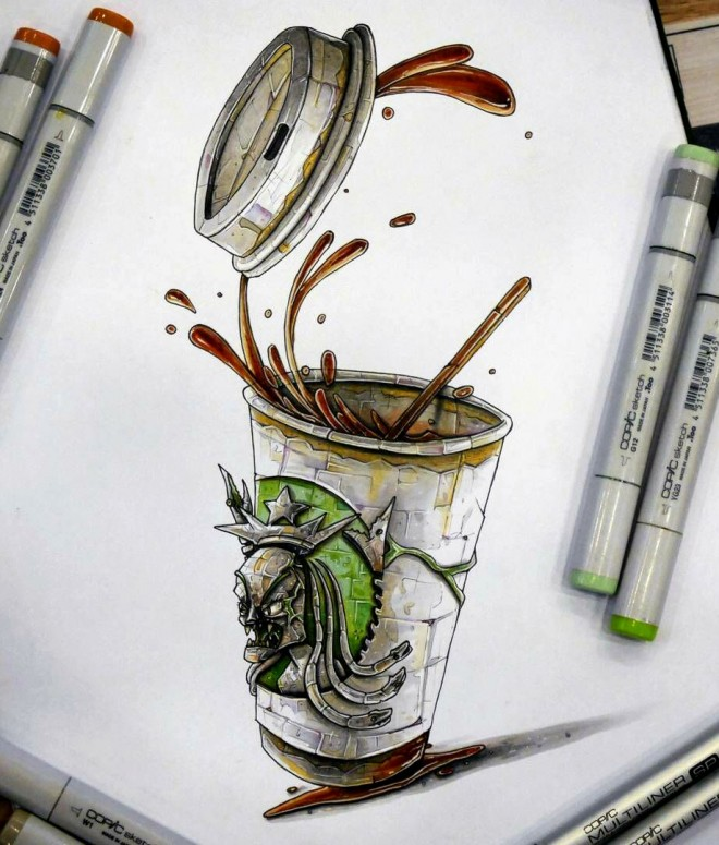 glass creative drawing