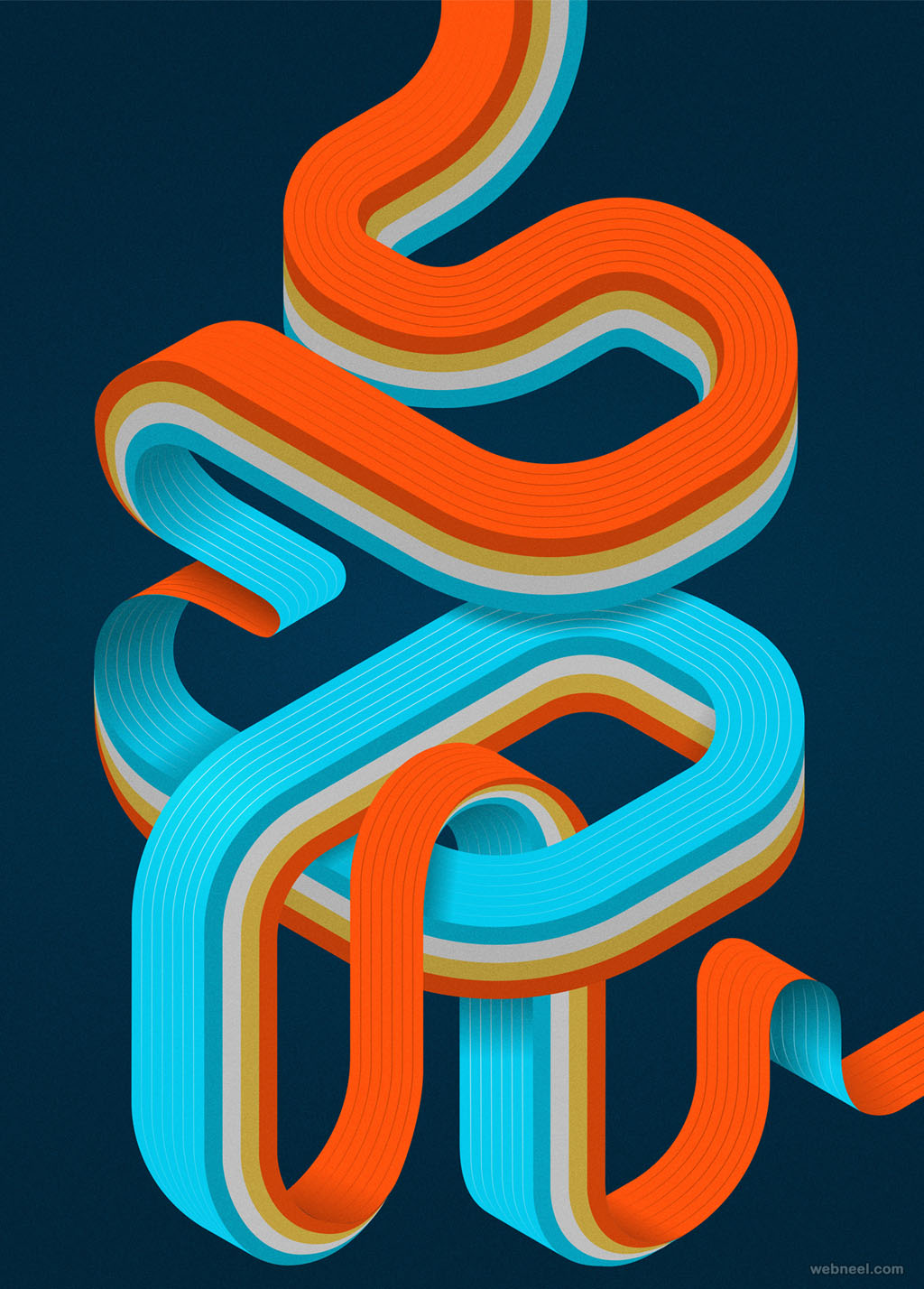seoul poster typography design