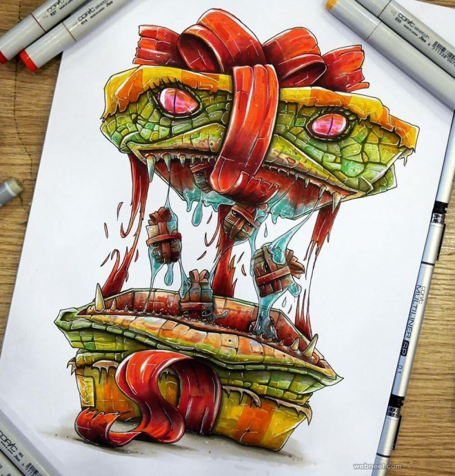 monster creative drawings
