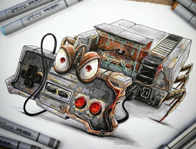 truck creative drawings