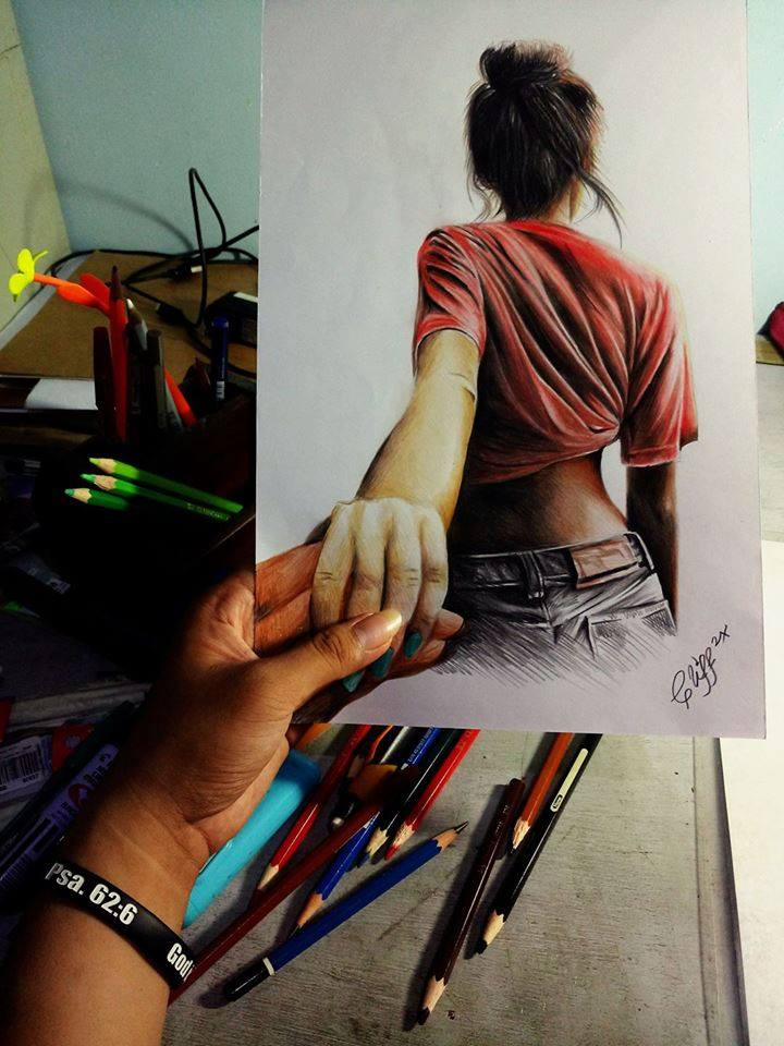 Color Pencil Drawing by Cliff Beron