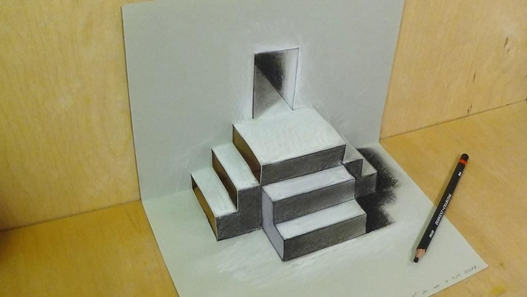 steps 3d drawing