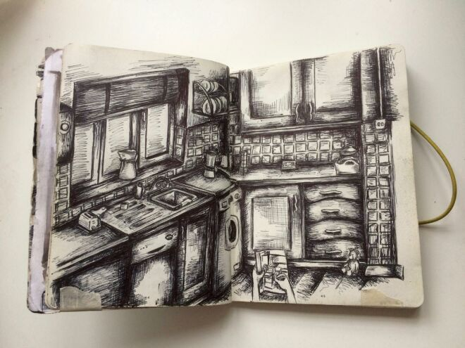 kitchen drawing heremoine art contest