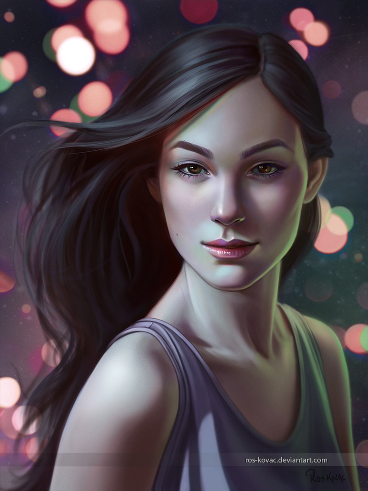 digital painting beauty by ros morales