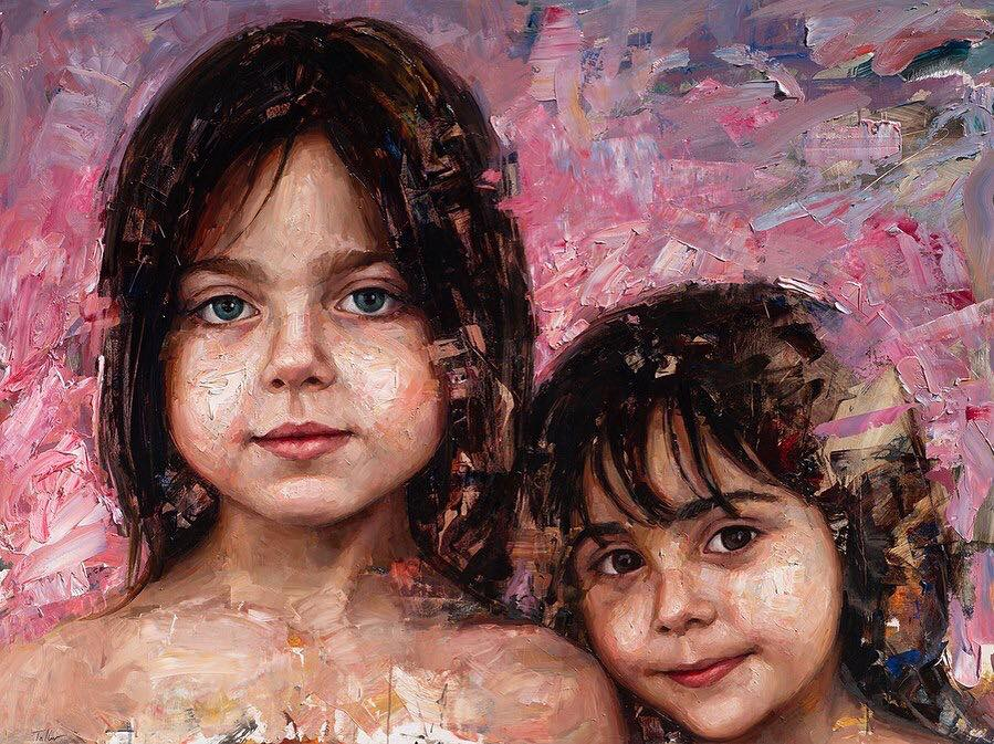 oil painting kids by matt talbert