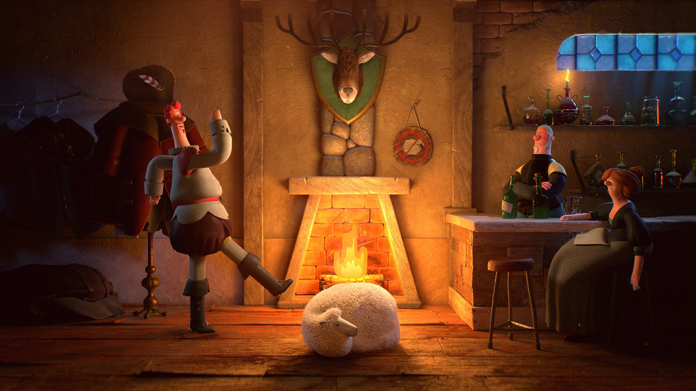 3d characters bar by elijah akouri