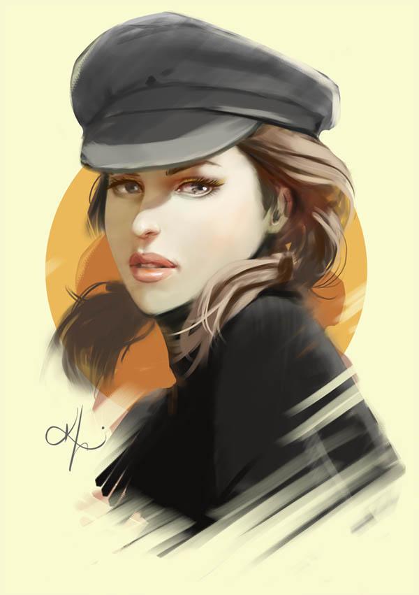 digital painting artworks captain