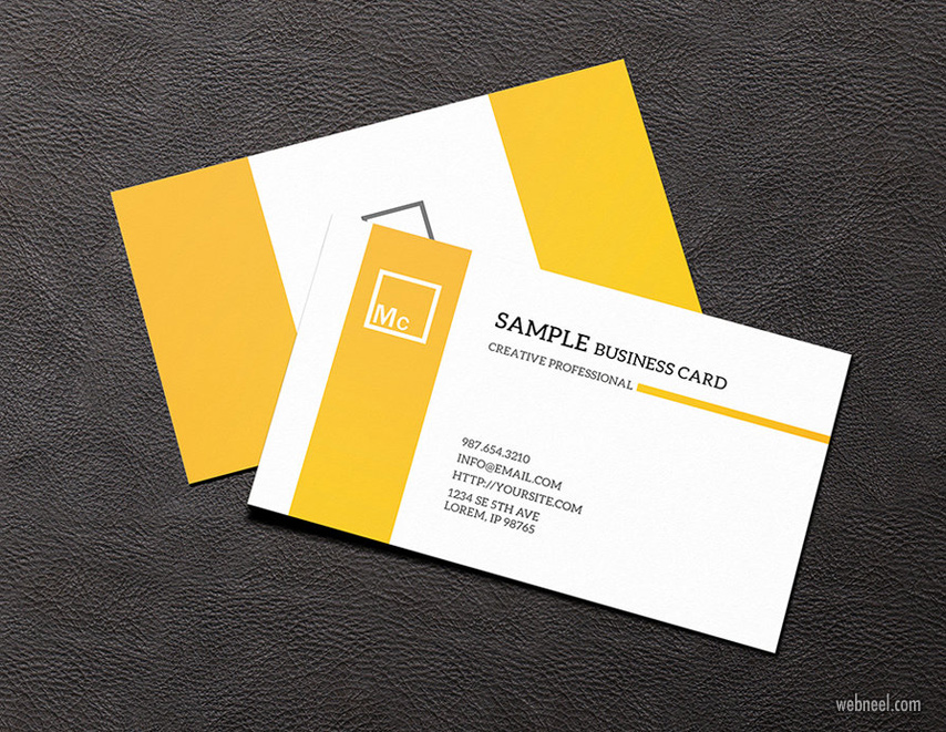 corporate business card design by visualcurve