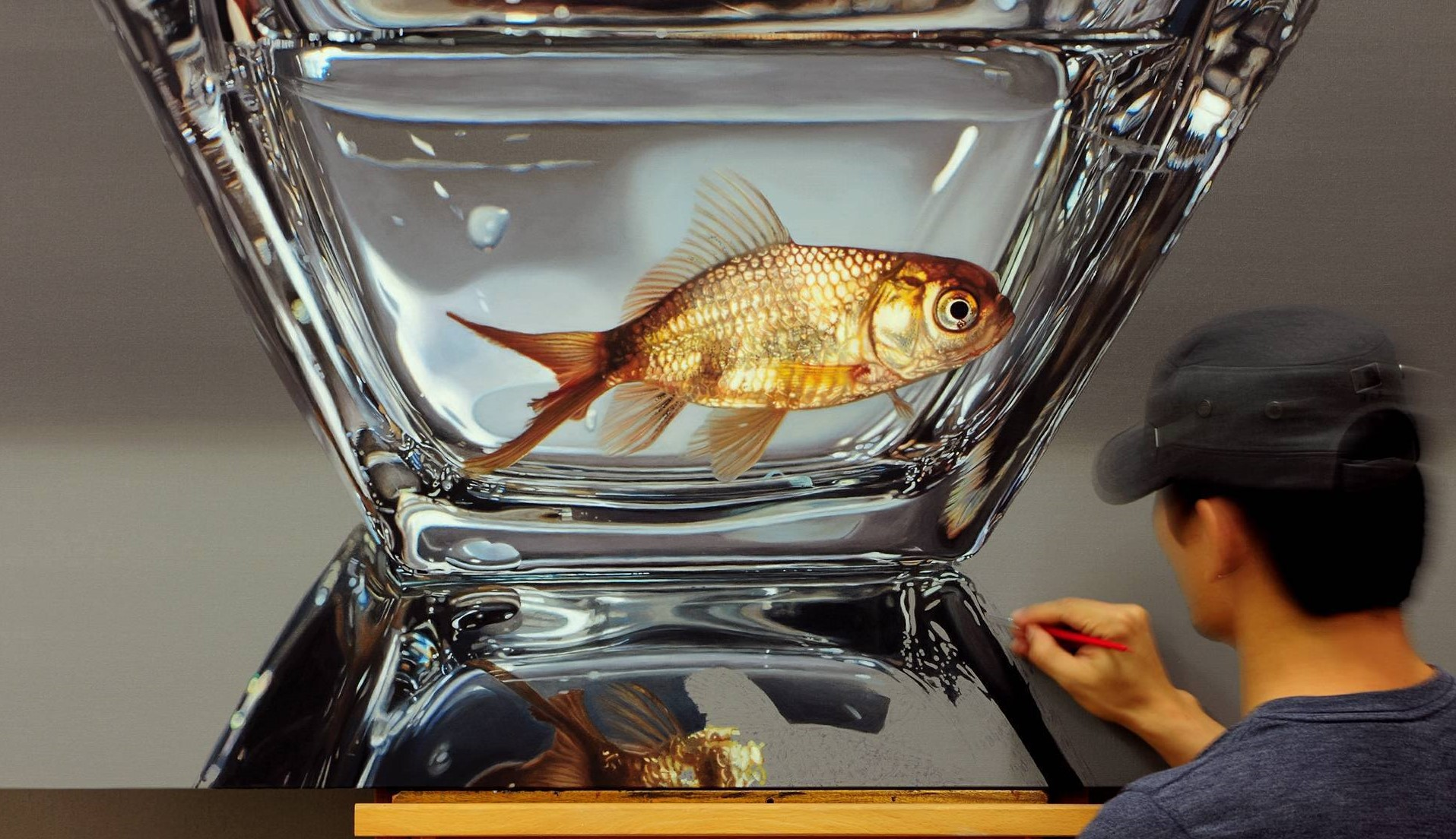 hyper realistic paintings fish