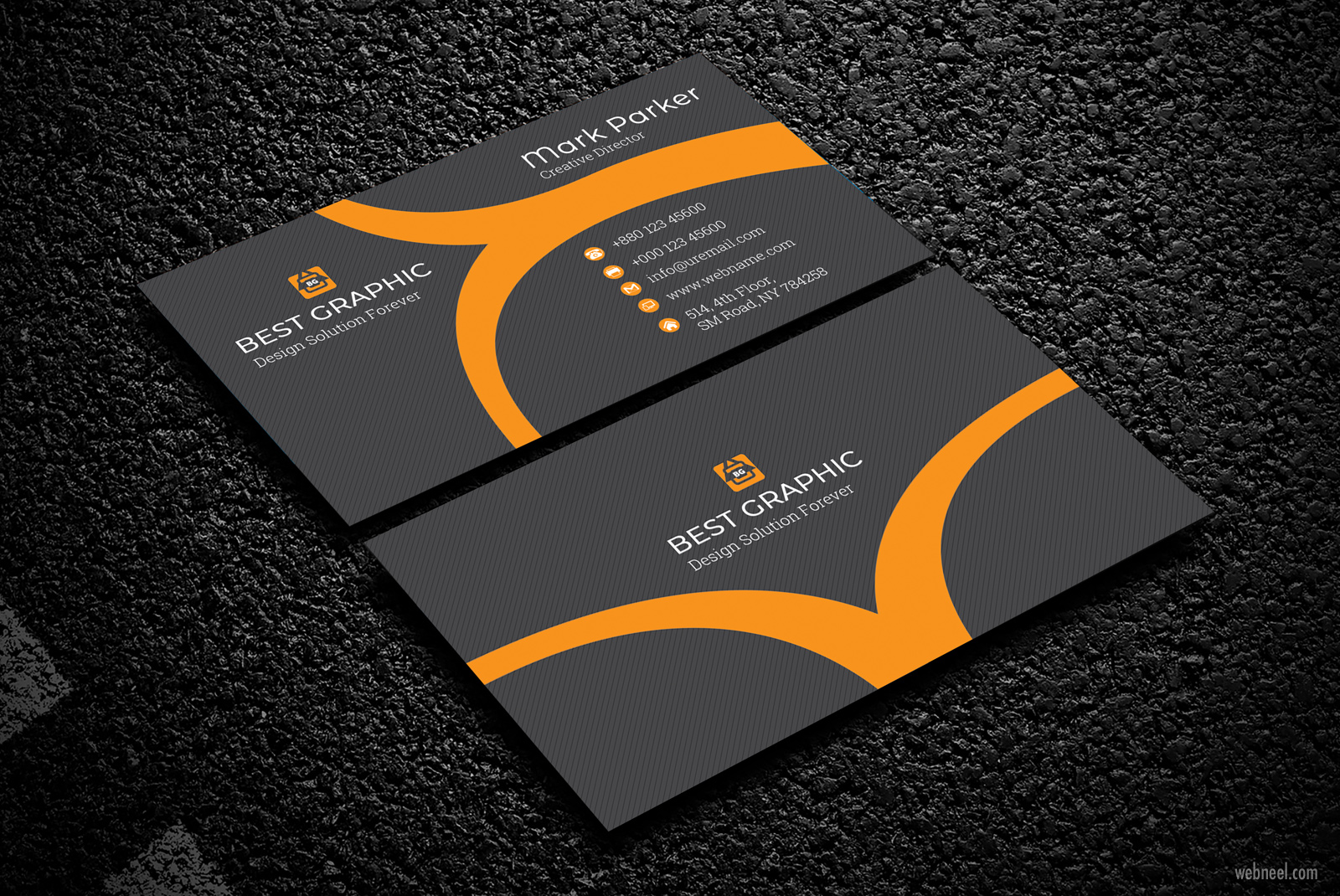 corporate business card design by mmsumon