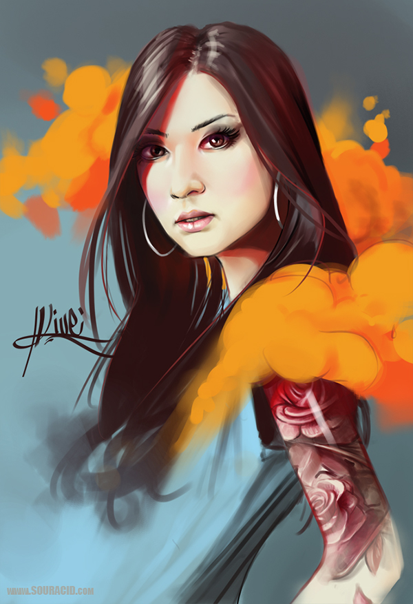 digital painting artworks woman