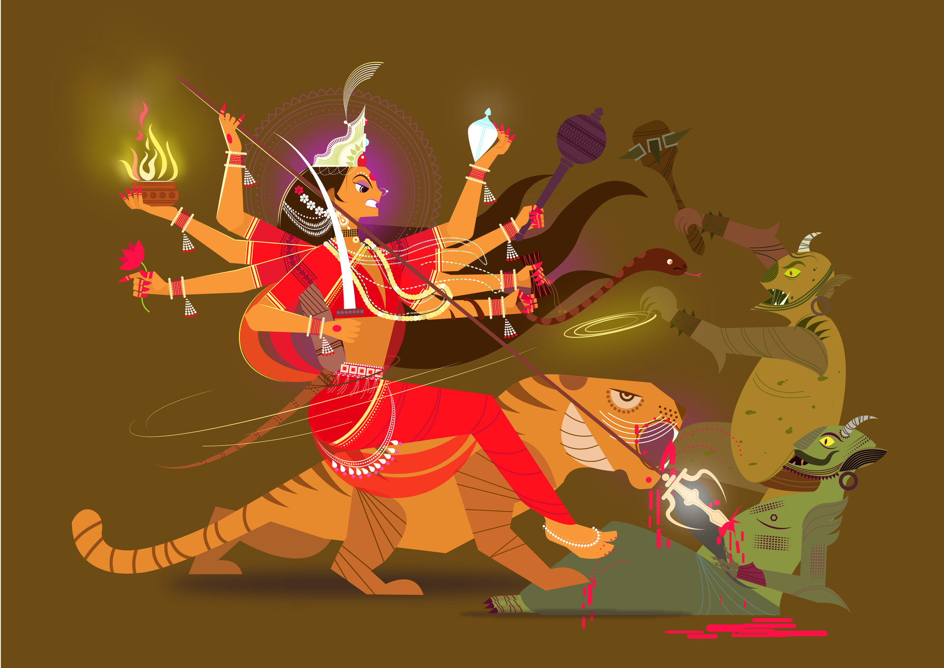 digital art fight by ram bhangad