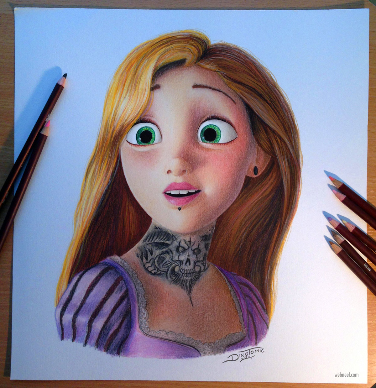 color pencil drawing by atomiccircus
