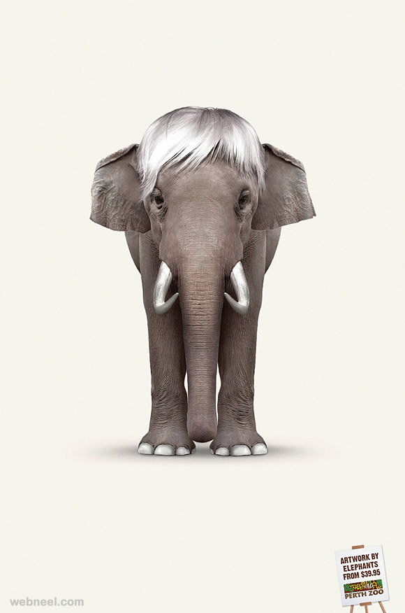 artworks by elephants ad